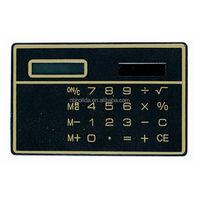 Mini slim card solar power pocket calculator, giveaway calculator/ HLD-807