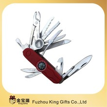 multi fuction pocket knife, army knife, folding knife with compass LED and stainless steel knife.
