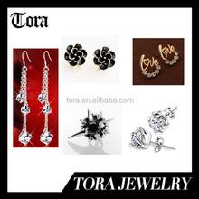 2015 hot sale earring design women diamond earring