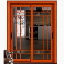 Factory Supply Aluminum Lift-sliding Ground Double Glass Door