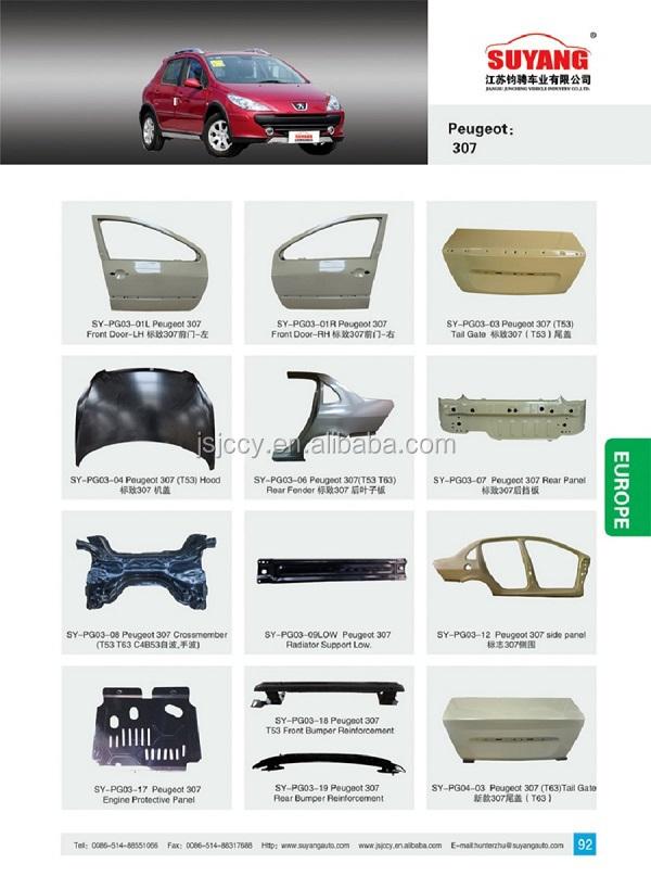 Pieces carrosserie peugeot 207