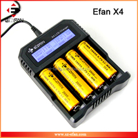 New product LCD universal charger EFAN X4 high quality battery chargers for 18650 26650 etc pk nitecore Digital travel charger
