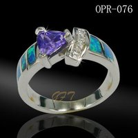 925 sterling silver mexican fire opal jewelry made in china
