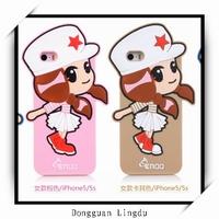 Cute customized design mobile animal silicone phone case
