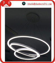 distribution price special design 3 circulars pendant light OEM producing