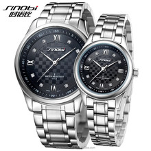 Lover watch stainless steel back water resistant led watch
