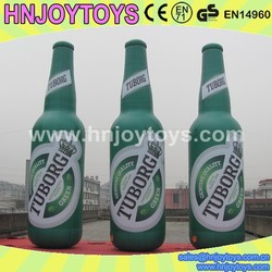 Custom Advertising giant inflatable beer bottle, inflatable bottle