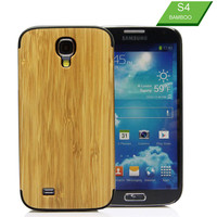 Customized various mobile phone wooden custom back phone case for Samsung Galaxy S4