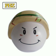 High quality promotional customized smile face anti stress ball BA008