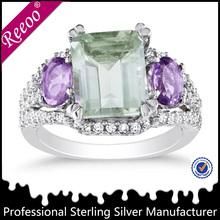 Natural de piedras preciosas joyas de rodio