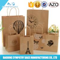 Newest shopping paper bag,cheap Kraft paper bags,craft paper shopping bag