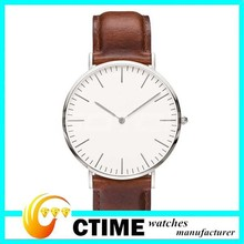 Ultra Thin Daniel Leather Strap Simple Wristwatch, Designer Classic watches