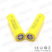 2015 hot sale e cig mod atomizer battery 3.6V li ion rechargeable 2500mah 35A high drain LG 18650 battery HE4