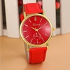 2015 New Arrival Unisex Women Men New Quartz Leather Band Fashion wrist watch