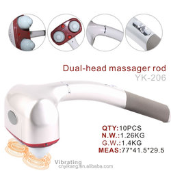 2015 Best Selling YK-206 Dural Head Personal Home Use Massager Electric Full Body Massager