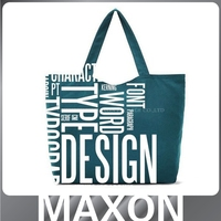 Hot selling cotton canvas tote bag rope handle,cotton canvas leather bag,print cotton canvas bag