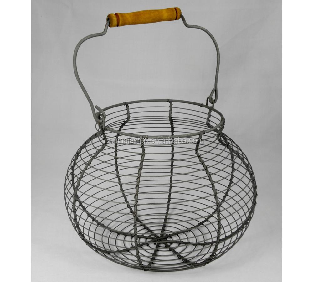 Goured Shaped Handmade Farm Chicken Wire Egg Basket - Buy Wire Egg ...