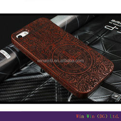 customized logo and color wood wholesale cell phone case