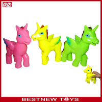 Pegasus screams rubber toy horse toy for kids