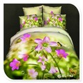 4 100% piezas de puro algodón poco de mariposas y reactiva de flores impresas 3d conjunto ropa de cama