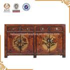 chinês beijing antigas de madeira rústica pintado aparador armário móveis para sala de jantar