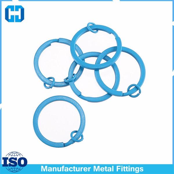 blue split key ring