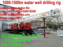 1000m trailer type diesel engine well drilling machine