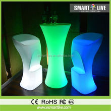 Colorful modern LED bar counter table/Modern Design Hotel Club Glow LED Bar Counter