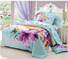 big flowers decoration bedding set with polyester / cotton for sale