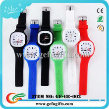 China manufacturer wholesale multi-color silicone interchange watch square led jelly watch