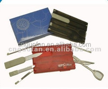 customized promotional multi function tool card/Mini credit card knife
