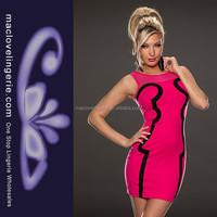 The US Fashion Party Short Rose Sleeveless Mini Ladies Dress Making