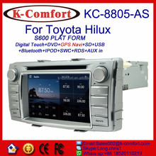 K-comfort Factory supply radio for toyota hilux with SWC GPS + Radio + RDS BT+ SD + USB CD/DVD IPOD Aux-in