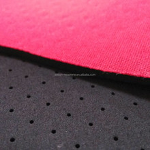 polyester fabric + neoprene sponge rubber perforated