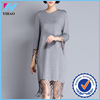 Yihao women wholesale 2015 clothes women women swater dress with tassels