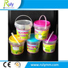 Heat transfer printing 1L plastic buckets in food grade for food packing