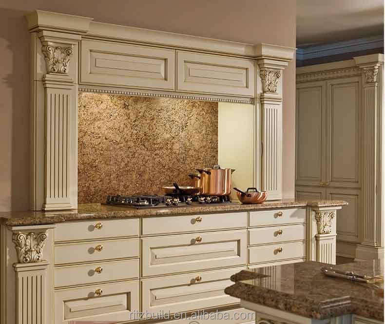 2015 mediterranean style solid wood modern kitchen for Solid wood modern kitchen cabinets