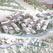 3D maquette , 1/500 scale architectural topographic model