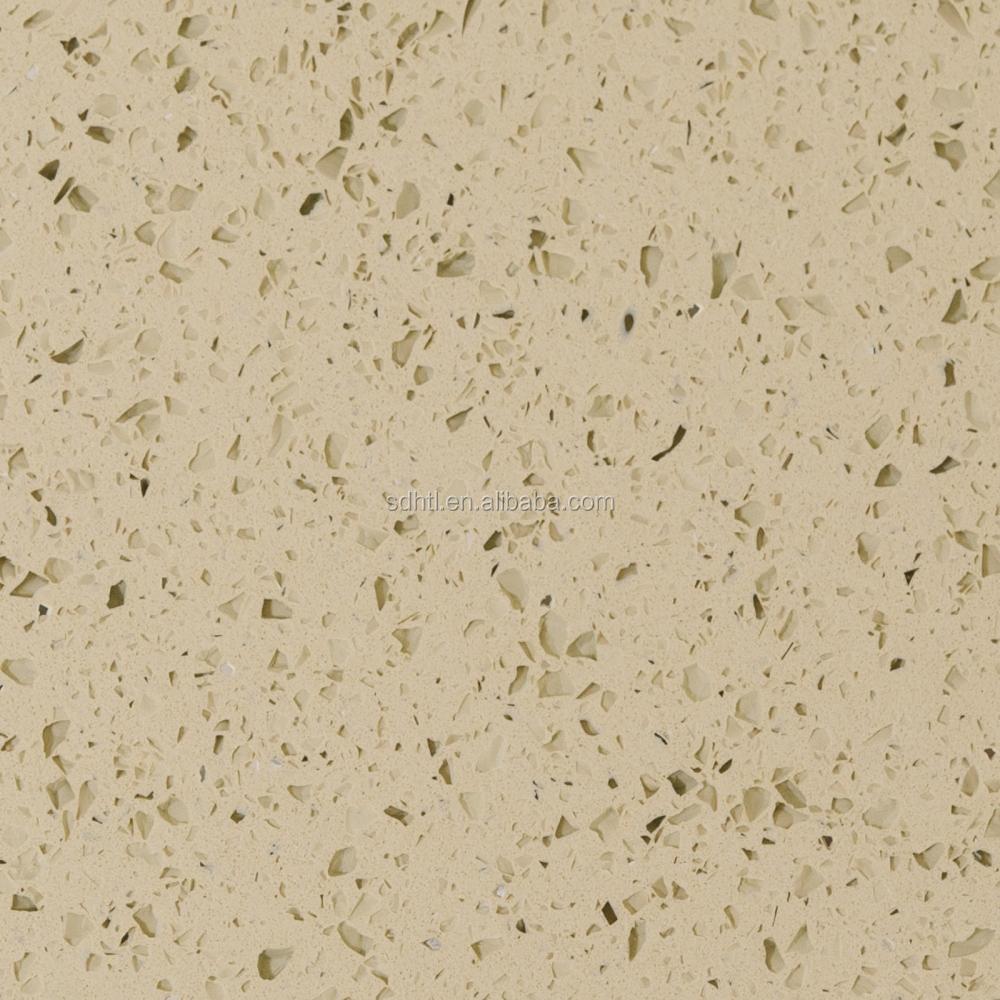 China NSF approved green quartz countertops manufacturers, artificial white mirror fleck quartz stone countertop for bathroom