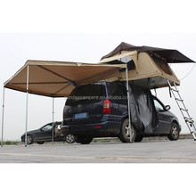 camping Poly cotton Canvas fibric 4x4 accessories offroad foldable car roof top tent for truck