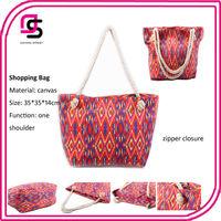 2014 fashion AZTC ethnic reusable polyester shopping bag pattern