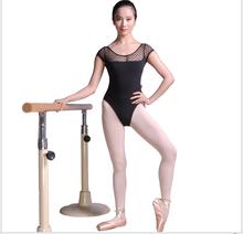 Black grenadine Women Ballet Costumes Sexy Girl Short sleeve Ballet Clothing