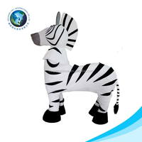 2015 NEW design large size zebra cartoon mascot costumes for adult