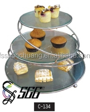 Cake / Pastry Stainless Steel Stand For Buffet , Wedding , Banquet