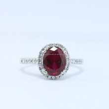 Mystery 2015 classic micro setting 925 silver Lab Ruby Diana ring jewelry.