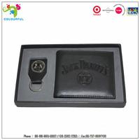 promotional gift custom wallet belt gift set