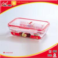 Rectangle Tritan microwave safe airtight box / seal box / food container 650ml