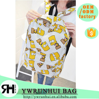 Canvas Material and Backpack,Minions school bag Type Minions school bag
