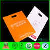 Orange Customised Die Cut Plastic bag