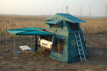 half round awning in auto top tent / 4wd tent with annex